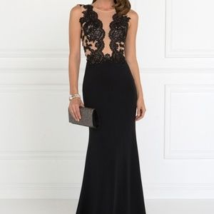 PARTY EVENING PROM SHEATH GOWN DRESS GL2286 BLACK